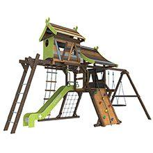 Детские деревянные площадки для дачи и загородного дома